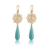 Anthia Earring, Amazonite, Gold