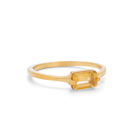 Baguette Band, Citrine, Gold