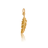 Feather Charm, Gold