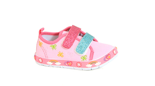 Girls Glitter Strap Slip-On