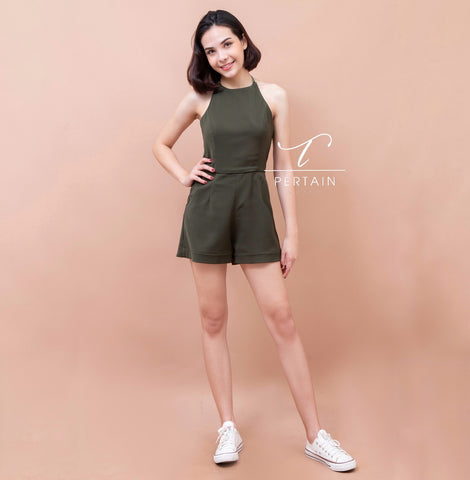 Jennalee Playsuit - Olive Green