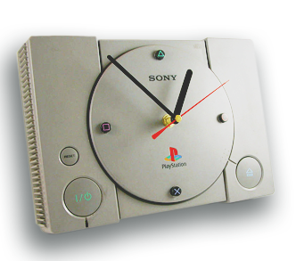 Playstation Upcycled Clock