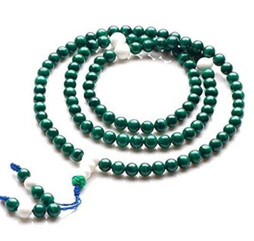 Healing Jewelry & Mala meditation beads (108 beads on a strand) Malachite - Adult Healing - The Art of Cure