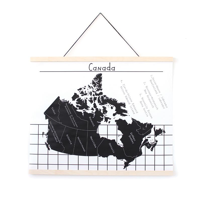 Gautier Studio Canvas Wall Hanging - Map of Canada | kids at home
