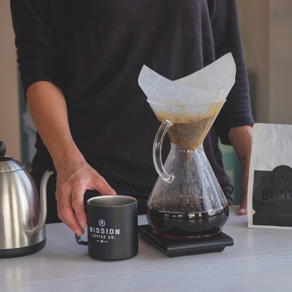 CHEMEX COFFEE BREWER MISSION COFFEE POUR OVER SINGLE CUP