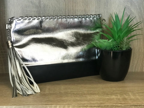 Luxe Clutch - Silver