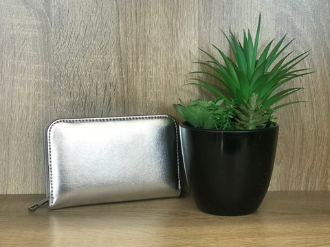 Luxe Wallet Small - Silver