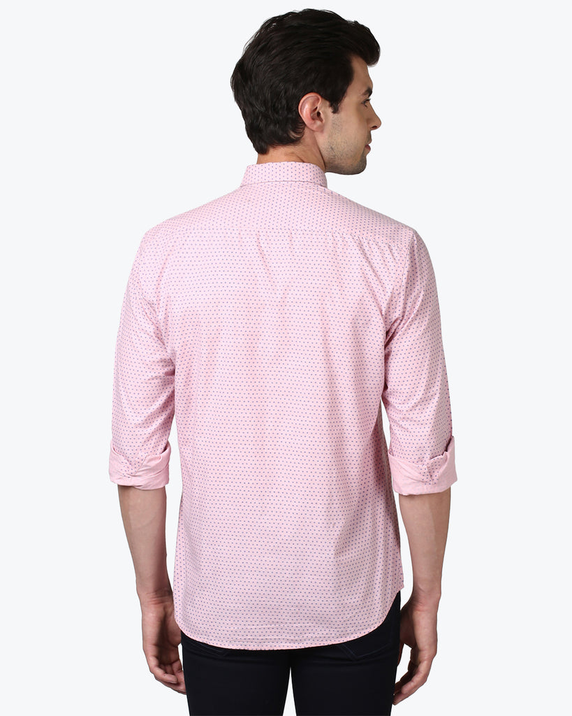 ColorPlus Pink Tailored Fit Shirt