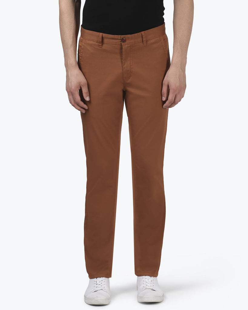 ColorPlus Brown Contemporary Fit Trouser