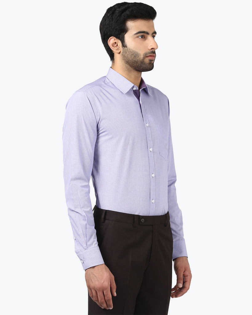 Park Avenue Violet Slim Fit Shirt