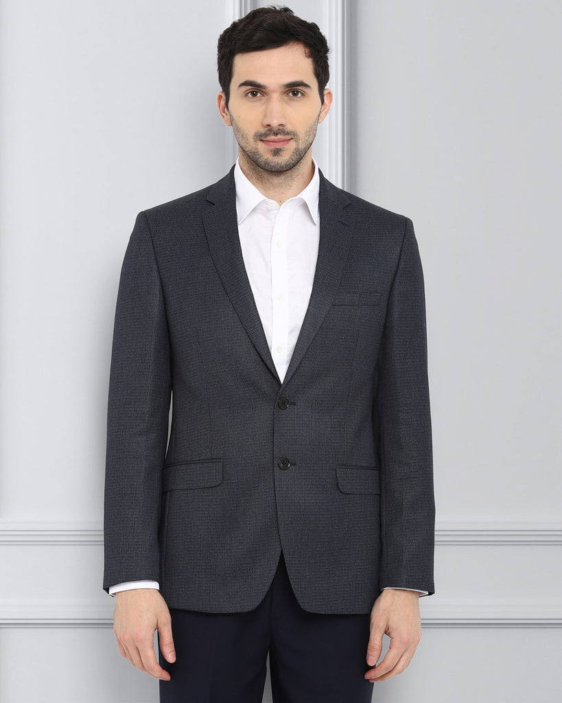 Raymond Dark Blue Regular Fit Blazer