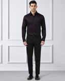 Next Look Maroon Slim Fit Shirt