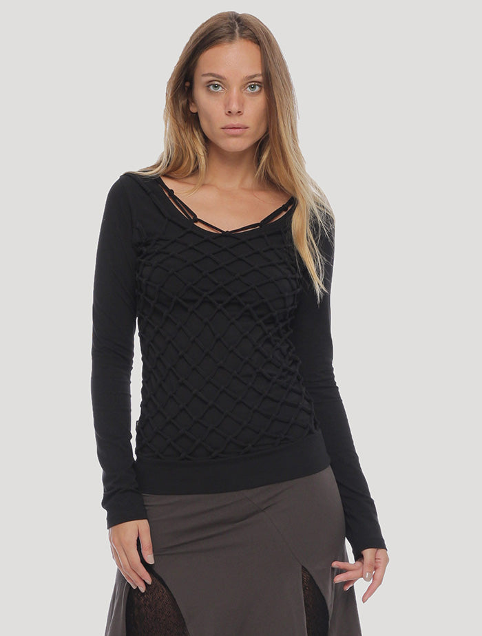 Basket Rmx' Long Sleeves Top
