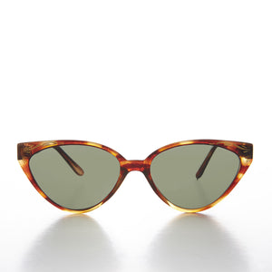 Cat Eye Sunglass with Gold Leaf Design - Misty