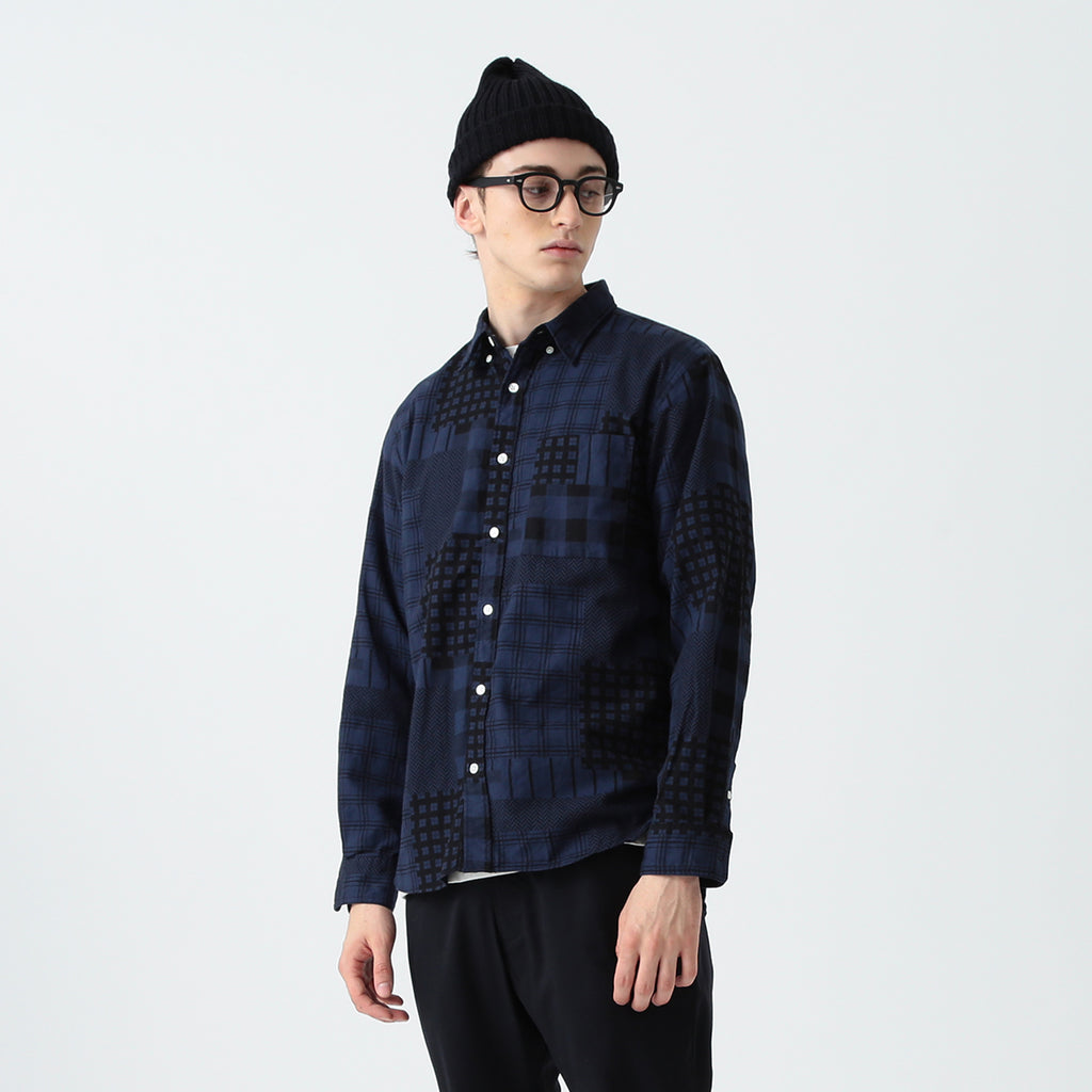 FLETCHER PATCHWORK PRINT SHIRT