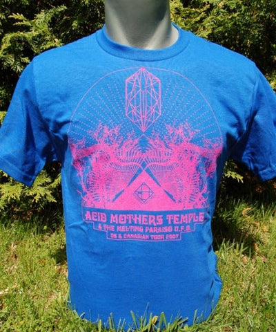 Acid Mothers Temple - Crystal Pyramid Tour T Shirt by Seldon Hunt