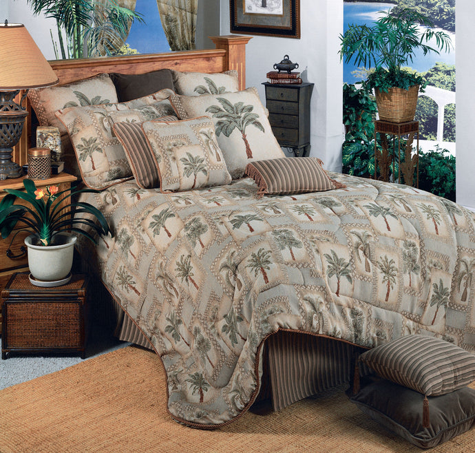 Palm Grove Comforter Set  Queen - Back40Trading2