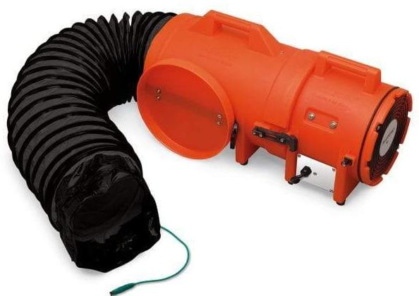 Explosion Proof  Confined Space Ventilation Blower 8 inch 900 CFM w/ Canister and 15 ft. Duct 9538-15