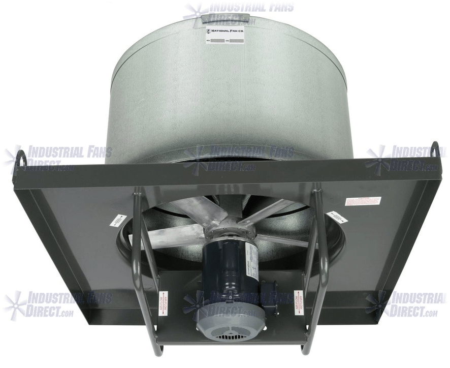 AirFlo-NA Explosion Proof Roof Exhaust Fan 48 inch 41000 CFM Direct Drive 3 Phase NAL48-K-3-E