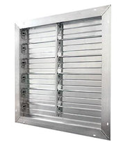 J & D Manufacturing 36 inch Aluminum Intake Power Shutter (multi-pack discount) VRSG36A-PS