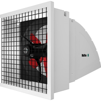 System 1 Shutter Panel Fan w/ Hood & Wireguard 12 inch 1282 CFM Variable Speed 120V S1124E1AQ
