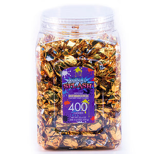 Color Splash Gold Foiled Butterscotch Hard Candies - Tub of 400