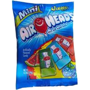 All City Candy Airheads Assorted Flavor Mini Taffy Bars - 6.4-oz. Bag Perfetti Van Melle Default Title For fresh candy and great service, visit www.allcitycandy.com