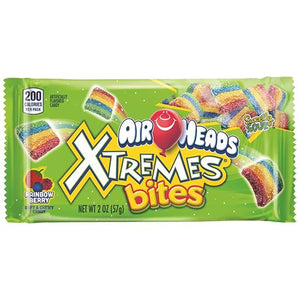 All City Candy Airheads Xtremes Bites Rainbow Berry Soft & Chewy Candy - 2-oz. Bag Chewy Perfetti Van Melle For fresh candy and great service, visit www.allcitycandy.com