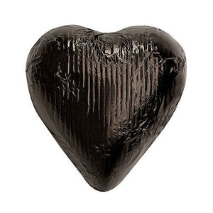 All City Candy Black Foiled Solid Milk Chocolate Hearts Bulk Bag Bulk Wrapped SweetWorks 3 lb. Bag For fresh candy and great service, visit www.allcitycandy.com