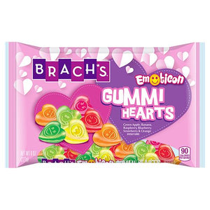 All City Candy Brach's Emoticon Gummy Hearts - 8-oz. Bag Valentine's Day Brach's Confections (Ferrara) For fresh candy and great service, visit www.allcitycandy.com