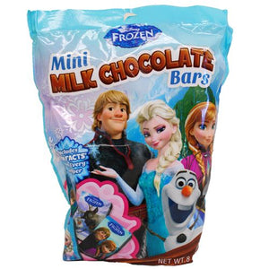 All City Candy Disney Frozen Mini Milk Chocolate Bars - 8oz Bag Chocolate Frankford Candy Default Title For fresh candy and great service, visit www.allcitycandy.com