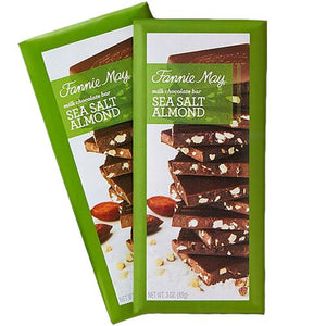 All City Candy Fannie May Milk Chocolate Sea Salt Almond Bar 3 oz. Candy Bars Fannie May Default Title For fresh candy and great service, visit www.allcitycandy.com