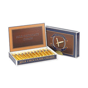 All City Candy Gold foiled Solid Milk Chocolate Cigars - Box of 24 Chocolate Madelaine Chocolate Company For fresh candy and great service, visit www.allcitycandy.com