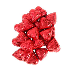 All City Candy Palmer Red Foiled Milk Chocolate Flavored Hearts - 3 LB Bulk Bag Bulk Wrapped R.M. Palmer Company For fresh candy and great service, visit www.allcitycandy.com
