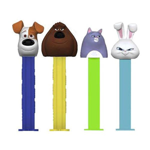 All City Candy PEZ The Secret Life of Pets Collection Candy Dispenser - 1-Piece Blister Pack Novelty PEZ Candy For fresh candy and great service, visit www.allcitycandy.com