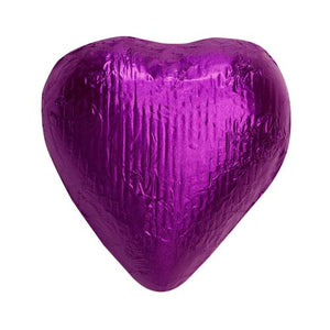 All City Candy Purple Foiled Solid Milk Chocolate Hearts - 2 LB Bulk Bag Bulk Wrapped SweetWorks Default Title For fresh candy and great service, visit www.allcitycandy.com