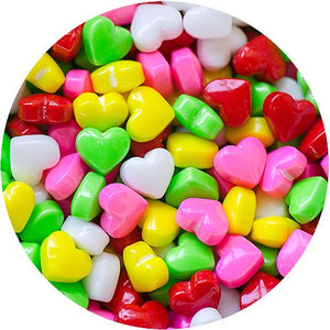 All City Candy Rainbow Hearts Pressed Candies - 3 LB Bulk Bag Bulk Unwrapped Sweet Maple For fresh candy and great service, visit www.allcitycandy.com