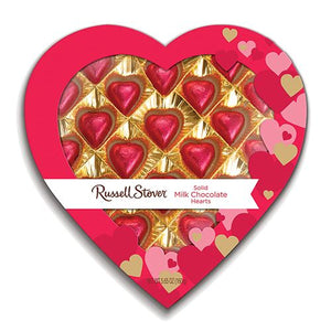 All City Candy Russell Stover Window to my Heart Solid Milk Chocolate Hearts Gift Box 5.65 oz. Valentine's Day Russell Stover For fresh candy and great service, visit www.allcitycandy.com