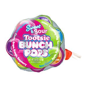 All City Candy Sweet & Sour Tootsie Bunch Pops - 8 Piece Bunch Lollipops & Suckers Tootsie Roll Industries Default Title For fresh candy and great service, visit www.allcitycandy.com