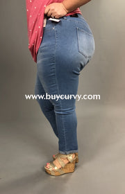Bt-G {Keep Living} Ymi Mid-Rise Faded Blue Jeans Sale! Bottoms
