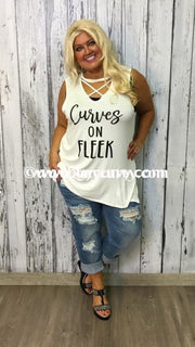 Gt-Sale!! #70-M Curves On Fleek Sleeveless With Criss-Cross V Graphic
