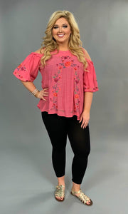 "OS-T {You Decide} ""UMGEE"" Pink Cold-Shoulder Top"