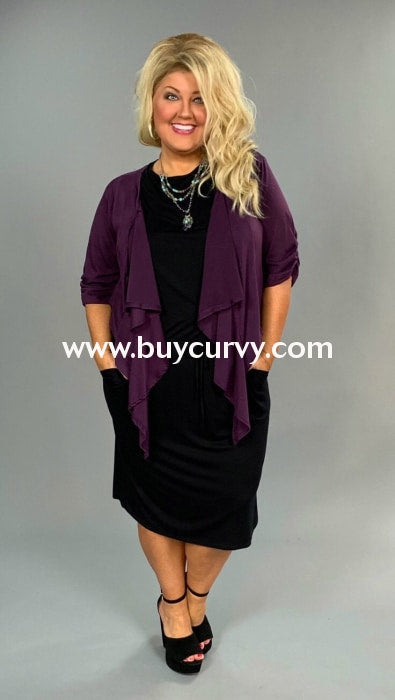 Ot-A Yummy Plus Plum Bolero Top Outerwear