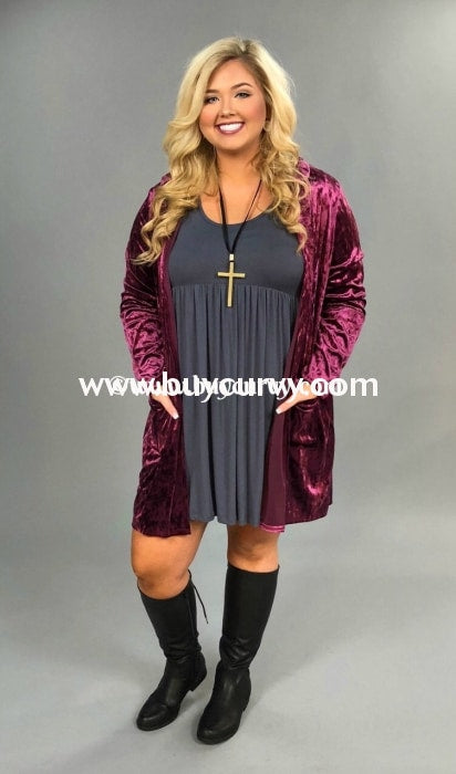 Ot-O Mulberry Soft Velour Hooded Cardi With Sequined Elbow Patches Sale!! Outerwear