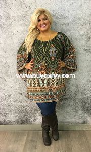 Pq-S Olive Bohemian Jewel Bell Sleeves {Extended Plus} Sale!! Pq
