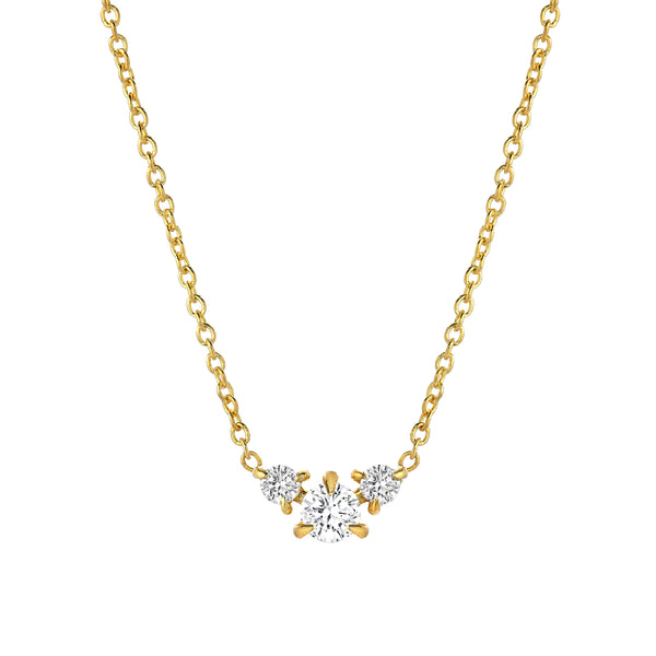 three-stone diamond necklace