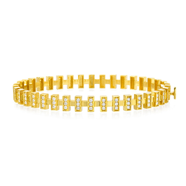 Merlon Partial Diamond Bracelet