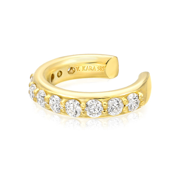essential diamond ear cuff 14k gold vardui kara