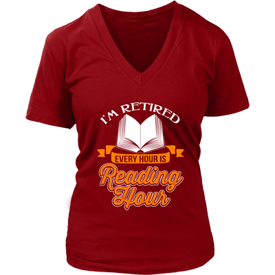 I'm Retired Every Hour Is Reading Hours Shirt - Awesome Librarians - 9