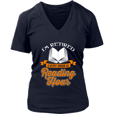 I'm Retired Every Hour Is Reading Hours Shirt - Awesome Librarians - 12